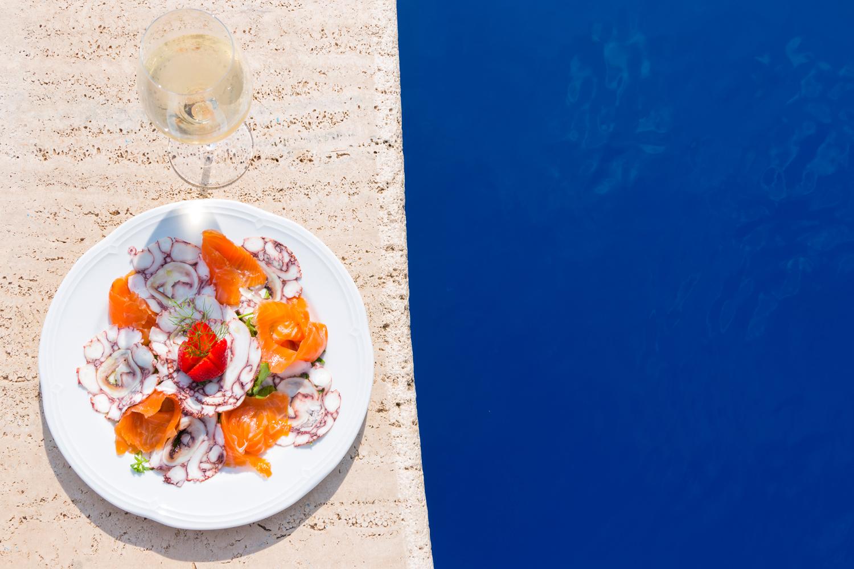 crystal-sea-hotel-marina-agro-taormina-pool-garden-Holiday-Sicily-Restaurant-food-fish